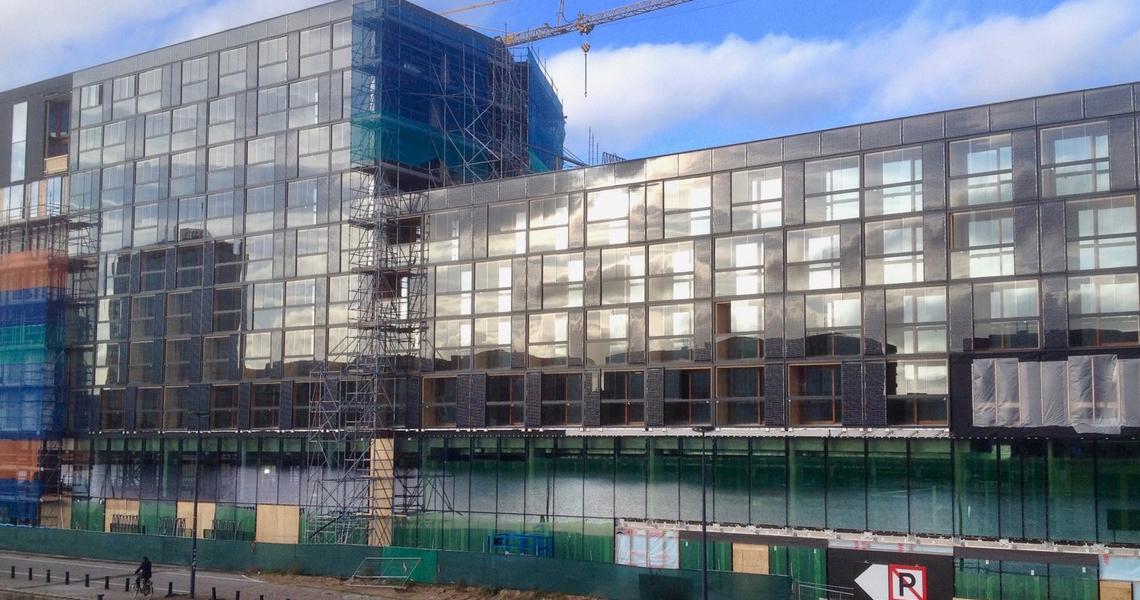 De bouw van Hotel Jakarta