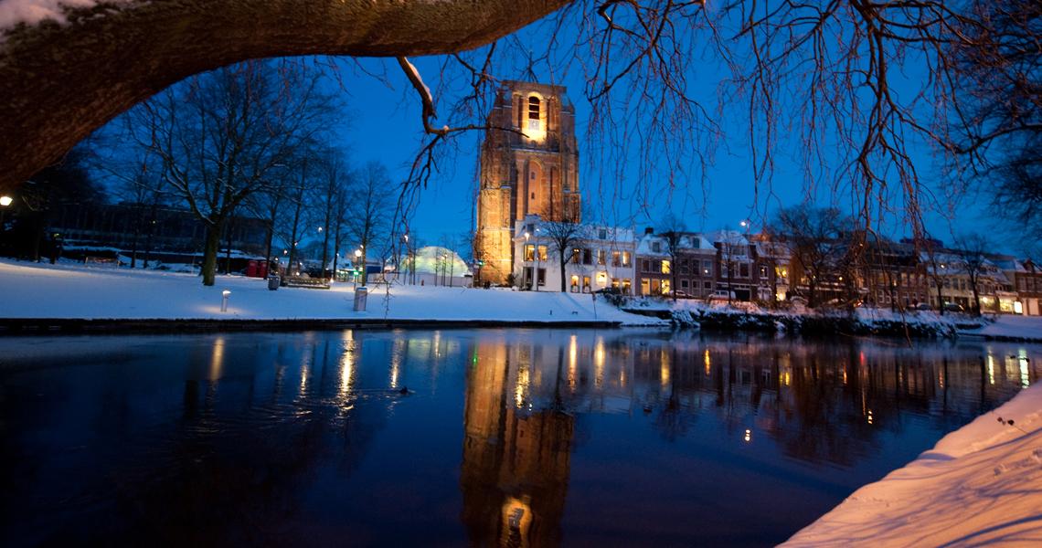 Scheve trots van Leeuwarden als projectiescherm